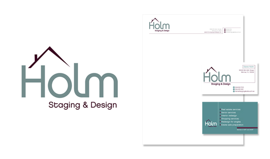 Interior Decorating Logo And Collateral Design