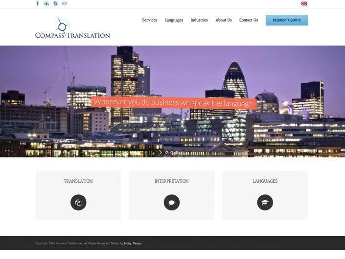 Website for translation company