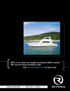 Print ad for yacht industry