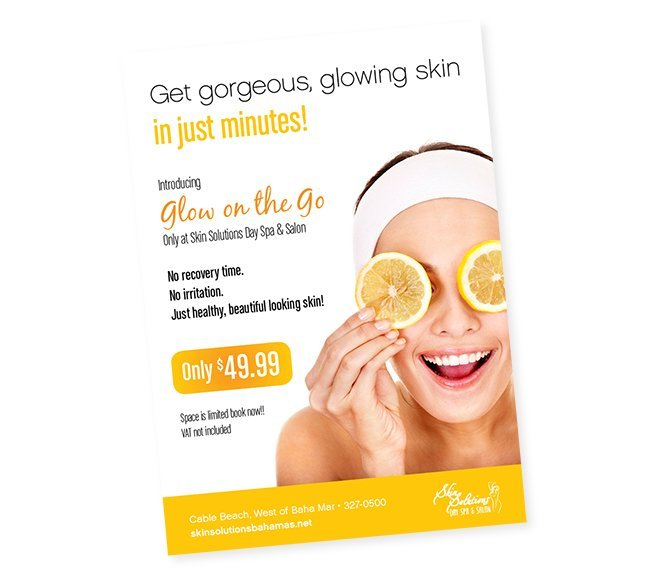 postcard design skin care