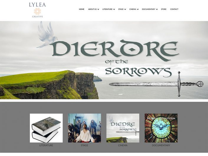 Website for author and screenwriter